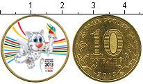 Изображение Цветные монеты Россия 10 рублей 2013  UNC- Талисман Универсиады
