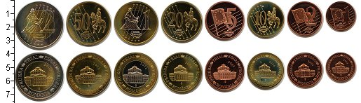 Изображение Наборы монет Румыния Румыния 2003 2003  UNC- Essai. В наборе 8 мо