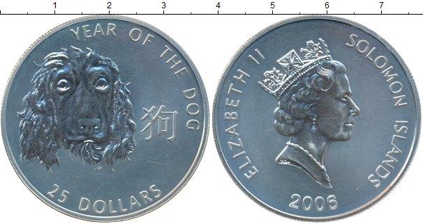 Картинка Монеты Соломоновы острова 25 долларов Серебро 2006