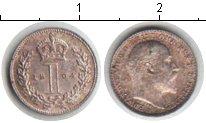 Монета Великобритания 1 пенни Серебро 1904 XF фото