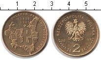 Изображение Мелочь Польша 2 злотых 2009 Медь UNC Границы Польши до па