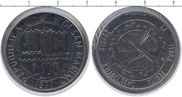 Картинка Монеты Сан-Марино 100 лир Медно-никель 1977
