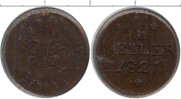 Картинка Монеты Франкфурт 1 хеллер Медь 1821