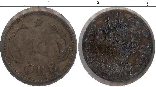 Картинка Монеты Дания 10 эре Серебро 0