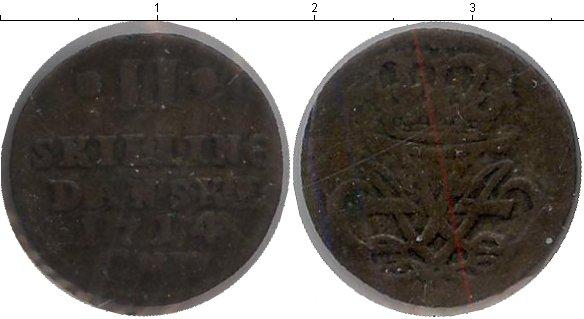 Картинка Монеты Дания 2 скиллинга Серебро 1714
