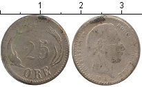 Изображение Монеты Дания 25 эре 1874 Серебро  Кристиан IX