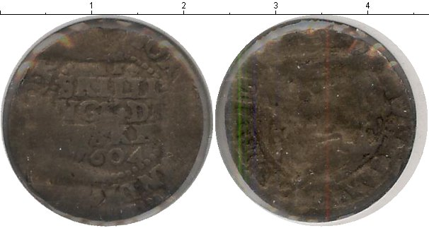Картинка Монеты Дания 2 скиллинга Серебро 1604