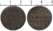 Изображение Монеты Дания 4 скиллинга 1718 Серебро VF
