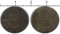 Изображение Монеты Дания 2 скиллинга 1651 Медь