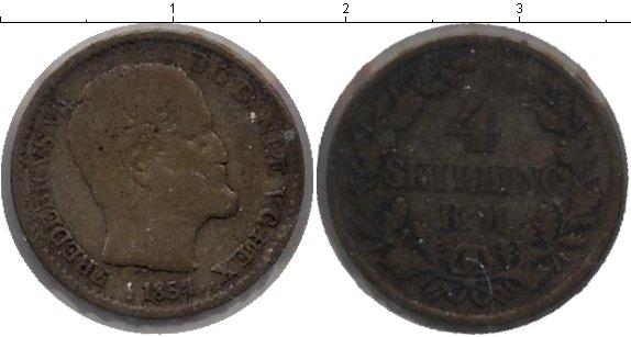 Картинка Монеты Дания 4 скиллинга Серебро 1854