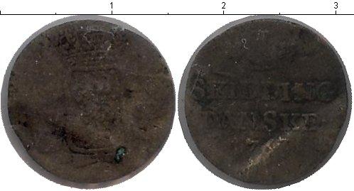 Картинка Монеты Дания 1 скиллинг Серебро 1767