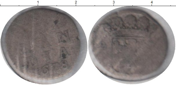 Картинка Монеты Голландия 1 стивер Серебро 1678