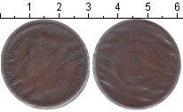 Изображение Монеты Великобритания Стрейтс-Сеттльмент 1 цент 1887 Медь VF