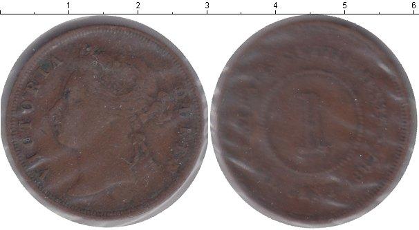Картинка Монеты Стрейтс-Сеттльмент 1 цент Медь 1887