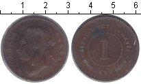 Изображение Монеты Стрейтс-Сеттльмент 1 цент 1897 Медь VF Виктория