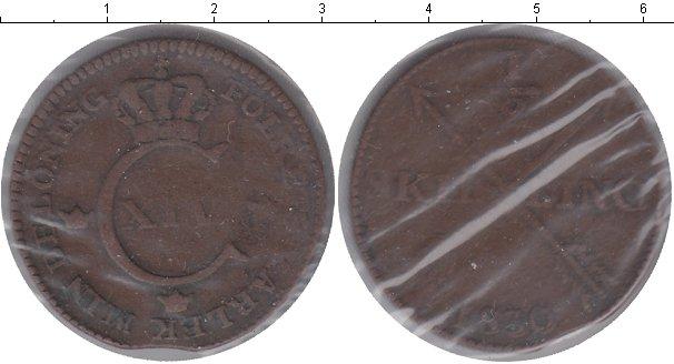 Картинка Монеты Швеция 1/2 скиллинга Медь 1830