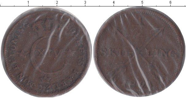 Картинка Монеты Швеция 1/2 скиллинга Медь 1821