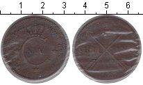 Изображение Монеты Швеция 1/2 скиллинга 1827 Медь VF