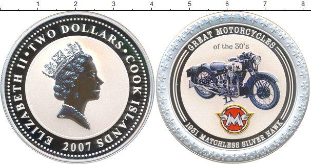 Картинка Монеты Острова Кука 2 доллара Серебро 2007