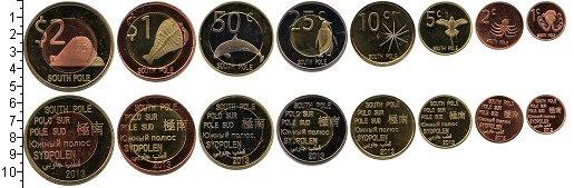 Изображение Наборы монет Антарктида Южный Полюс 2013 2013  UNC- В наборе 8 монет ном