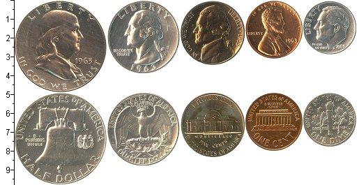 Набор монет сша сша 1963 в интернет-магазине клуб нумизмат, .