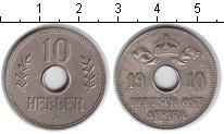 Изображение Монеты Германия Немецкая Африка 10 геллеров 1910 Медно-никель XF