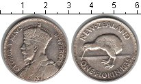 Изображение Монеты Новая Зеландия 1 флорин 1935 Серебро VF
