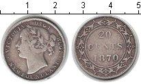 Изображение Монеты Ньюфаундленд 20 центов 1870 Серебро VF