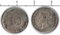 Изображение Монеты Маврикий 10 центов 1886 Серебро XF Виктория