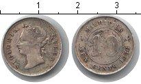 Изображение Монеты Маврикий 10 центов 1886 Серебро XF