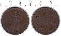 Изображение Монеты Дания 5 эре 1875 Медь XF дельфины