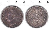 Изображение Монеты Баден 2 марки 1911 Серебро XF