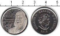 Изображение Мелочь Канада 25 центов 2012 Медно-никель UNC- Текумсе