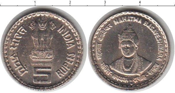 Картинка Мелочь Индия 5 рупий Медно-никель 0