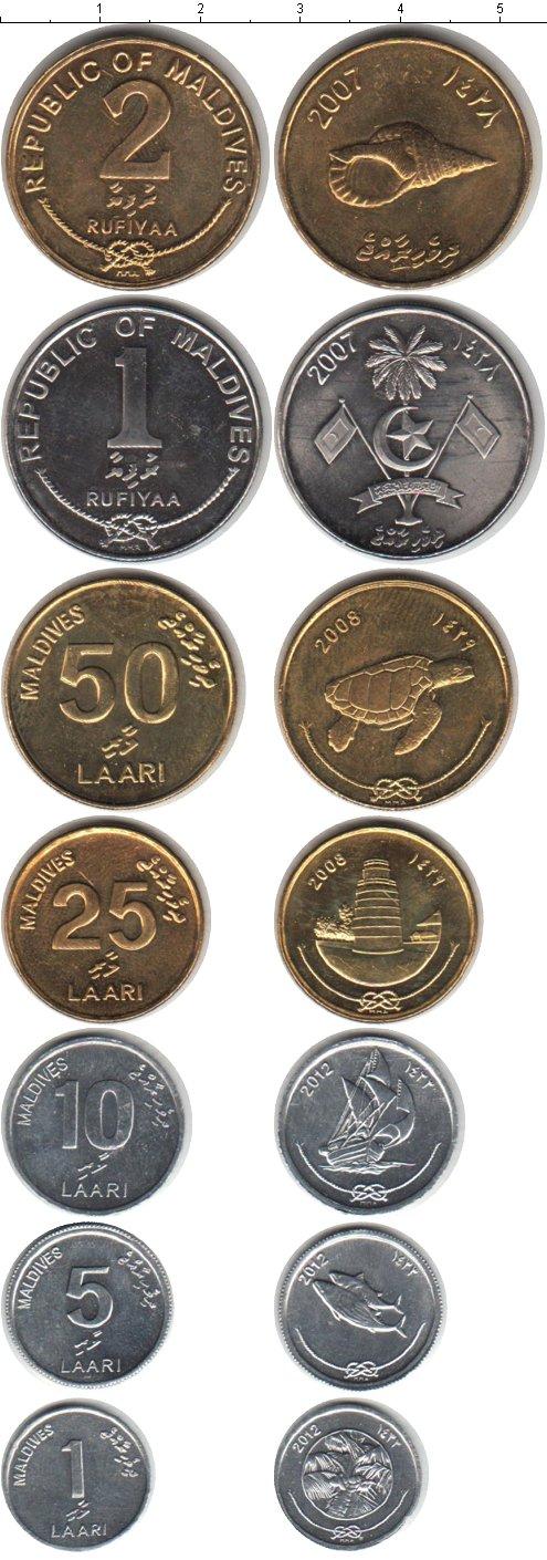 Картинка Наборы монет Мальдивы Мальдивы 1995-2012  0