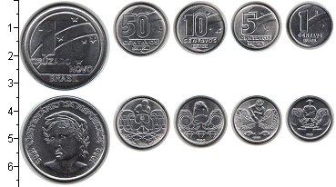 Изображение Наборы монет Бразилия Бразилия 1989-1990 0 Медно-никель UNC- В наборе 5 монет ном
