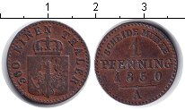 Изображение Монеты Пруссия 1 пфенниг 1850 Медь  A
