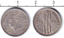 Изображение Монеты Великобритания Родезия 3 пенса 1952 Медно-никель XF