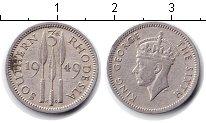 Изображение Монеты Родезия 3 пенса 1949 Медно-никель  Георг VI