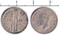 Изображение Монеты Великобритания Родезия 3 пенса 1952 Медно-никель