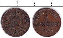 Изображение Монеты Германия Бавария 1 пфенниг 1871 Медь