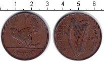 Изображение Монеты Ирландия 1 пенни 1937 Медь XF курица
