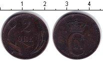 Изображение Монеты Дания 2 эре 1886 Медь VF