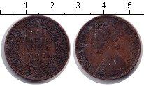 Изображение Монеты Индия 1/4 анны 1884 Медь VF Виктория