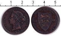 Изображение Монеты Остров Джерси 1/24 шиллинга 1877 Медь