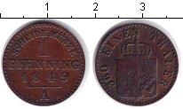 Изображение Монеты Германия Пруссия 1 пфенниг 1849 Медь VF