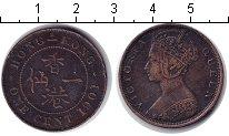 Изображение Монеты Гонконг 1 цент 1901 Медь XF Виктория