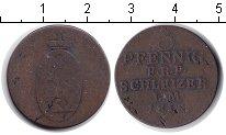 Изображение Монеты Рейсс-Оберграйц 3 пфеннига 1819 Медь