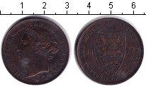 Изображение Монеты Остров Джерси 1/12 шиллинга 1877 Медь  Виктория