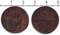 Изображение Монеты Пруссия 3 пфеннига 1852 Медь